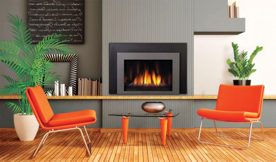 diseño de sala de estar de chimenea de esquina Interior De Una Habitacin Con Chimenea En Una Casa Privada