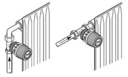 Варианты размещения радиаторного тероморегулятора